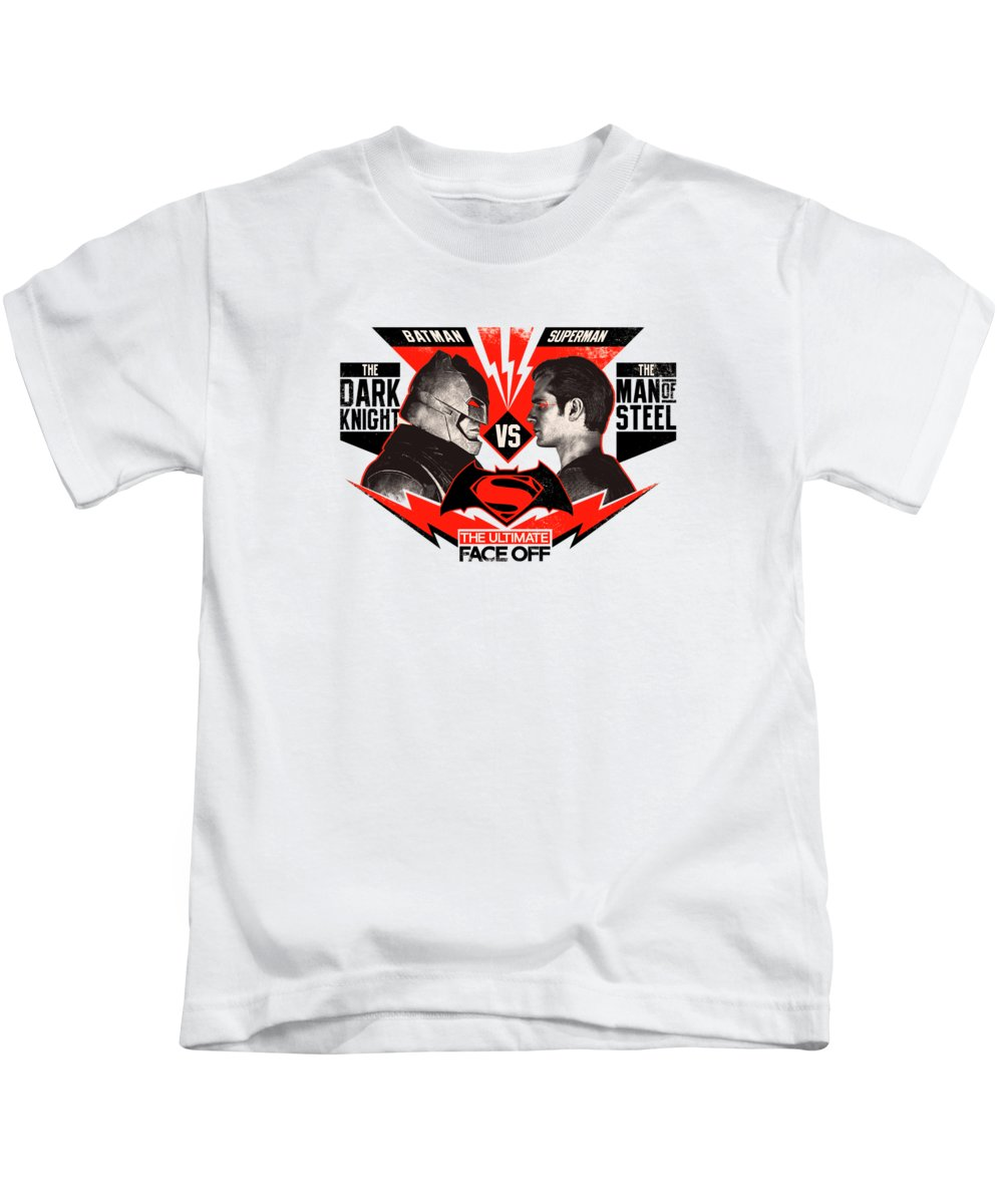 Batman Superman Kids T-Shirt featuring the digital art Batman Superman by Geek N Rock