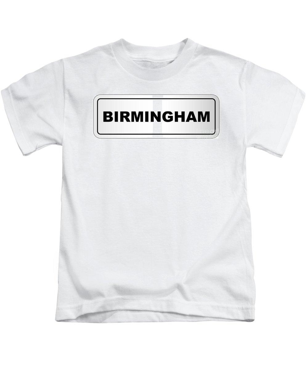 Birmingham Kids T-Shirt featuring the digital art Birmingham City Nameplate by Bigalbaloo Stock