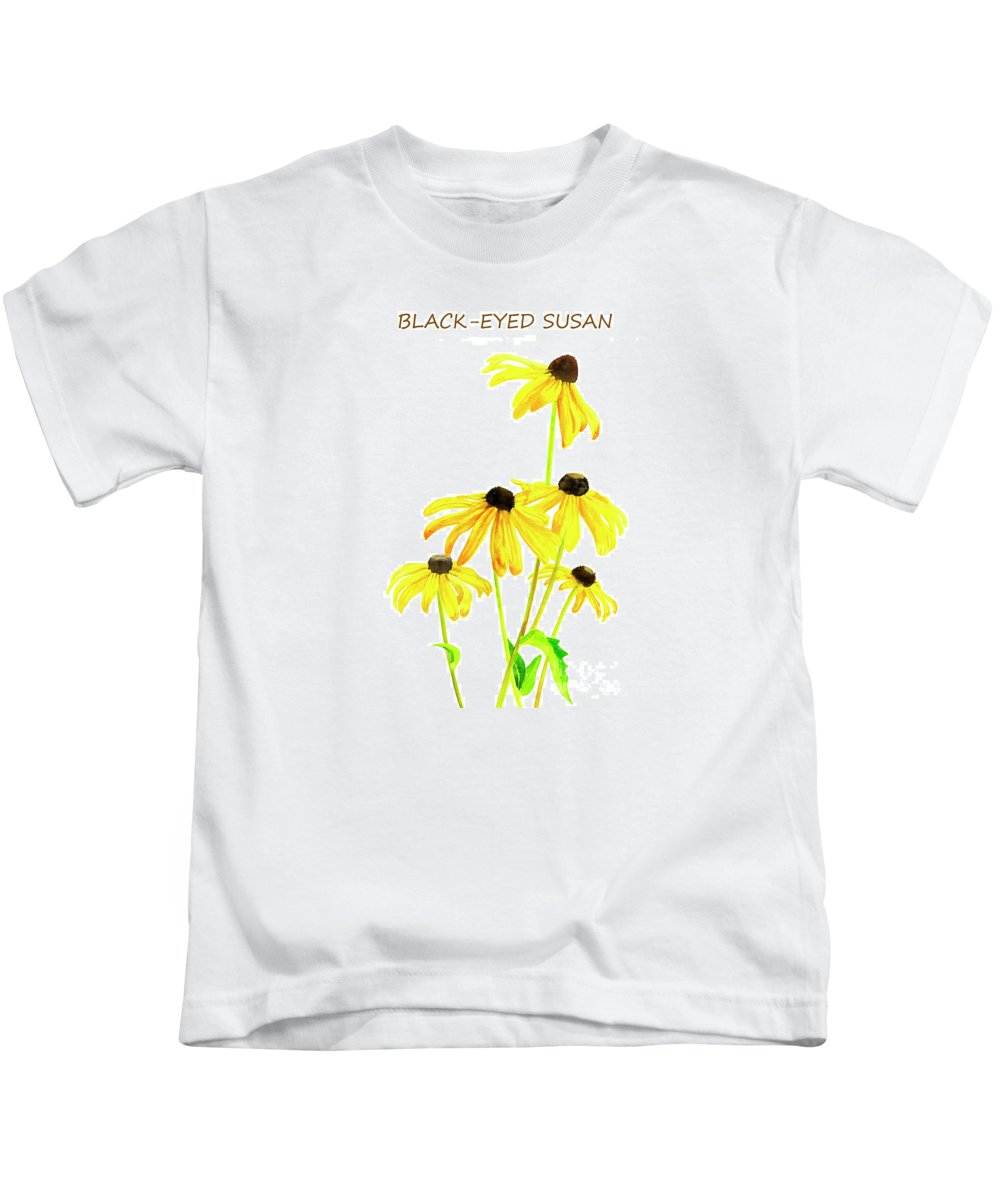Poster Kids T-Shirt featuring the painting Black Eyed Susan Poster by Sharon Freeman