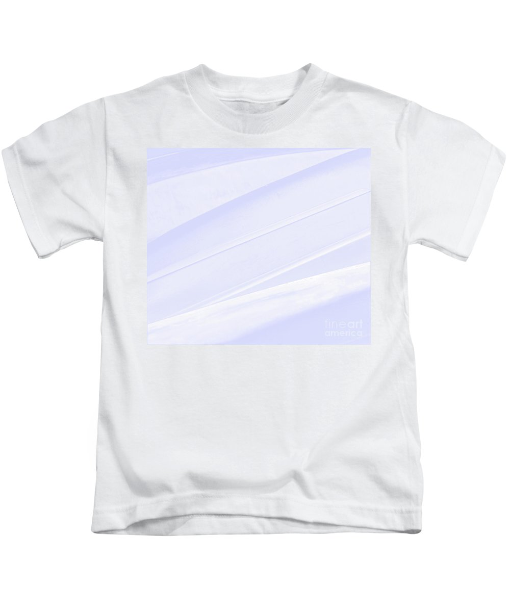Abstract Kids T-Shirt featuring the mixed media Blue Ice Abstract Patterns by Sharon Eng