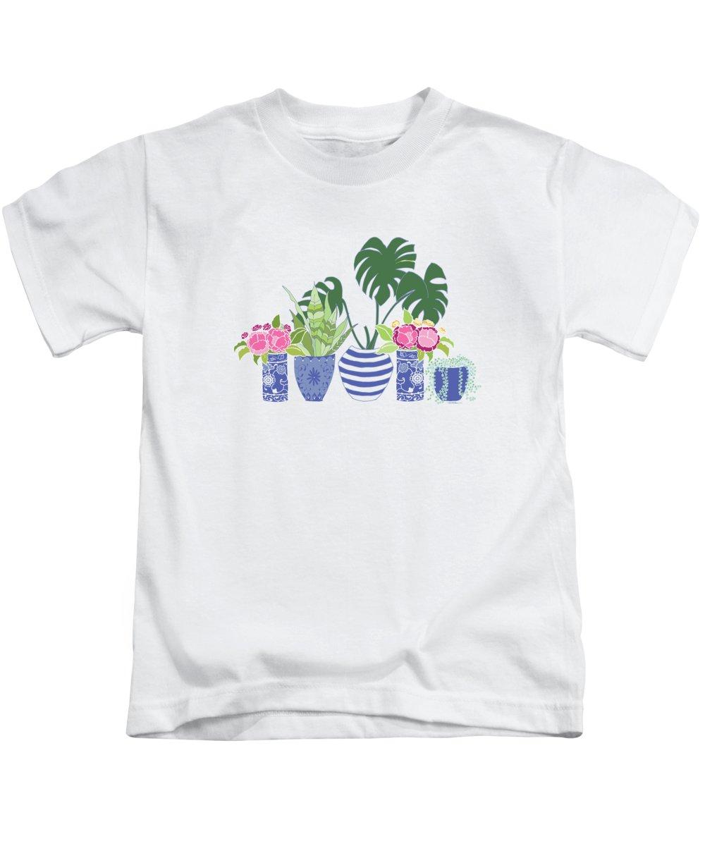 Peony Digital Art Kids T-Shirts