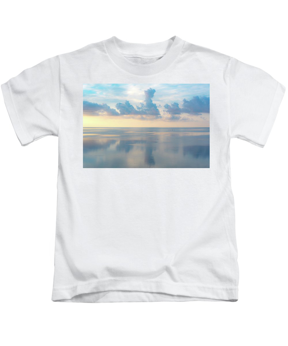 Vacation Kids T-Shirt featuring the photograph Cloud Reflections On Pamlico Sound by Anthony Doudt