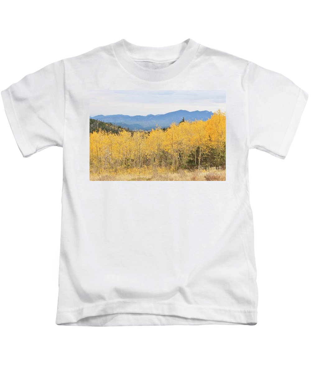 Nature Kids T-Shirt featuring the photograph Colorado Autumn In The Mountains by Tonya Hance