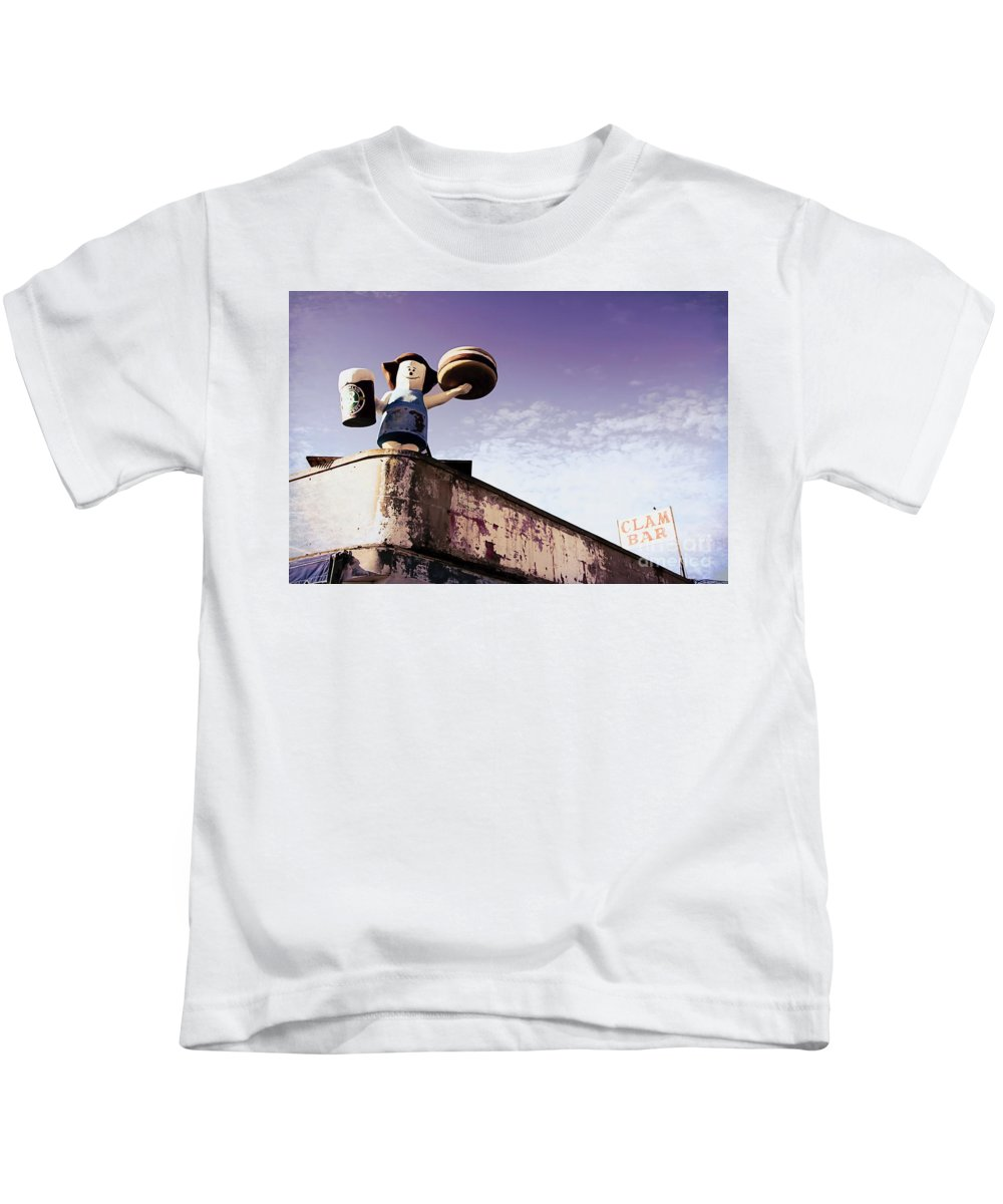 Ny Kids T-Shirt featuring the photograph Coney Island Remnants Of Bygone Era Ny by Chuck Kuhn