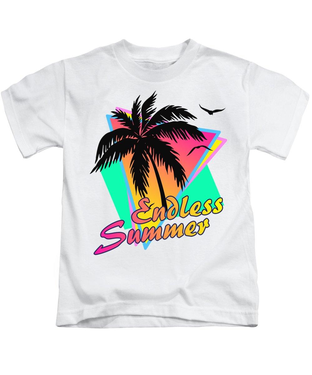 Sunset Kids T-Shirt featuring the digital art Endelss Summer by Filip Hellman