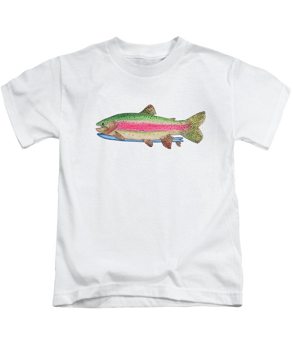 River Paintings Kids T-Shirts