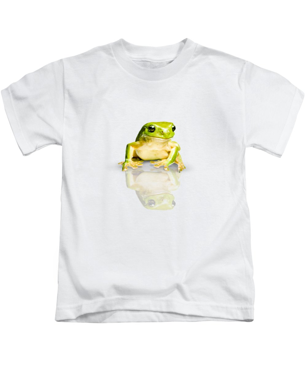 Frog Kids T-Shirt featuring the photograph Green Tree Frog by Jorgo Photography - Wall Art Gallery