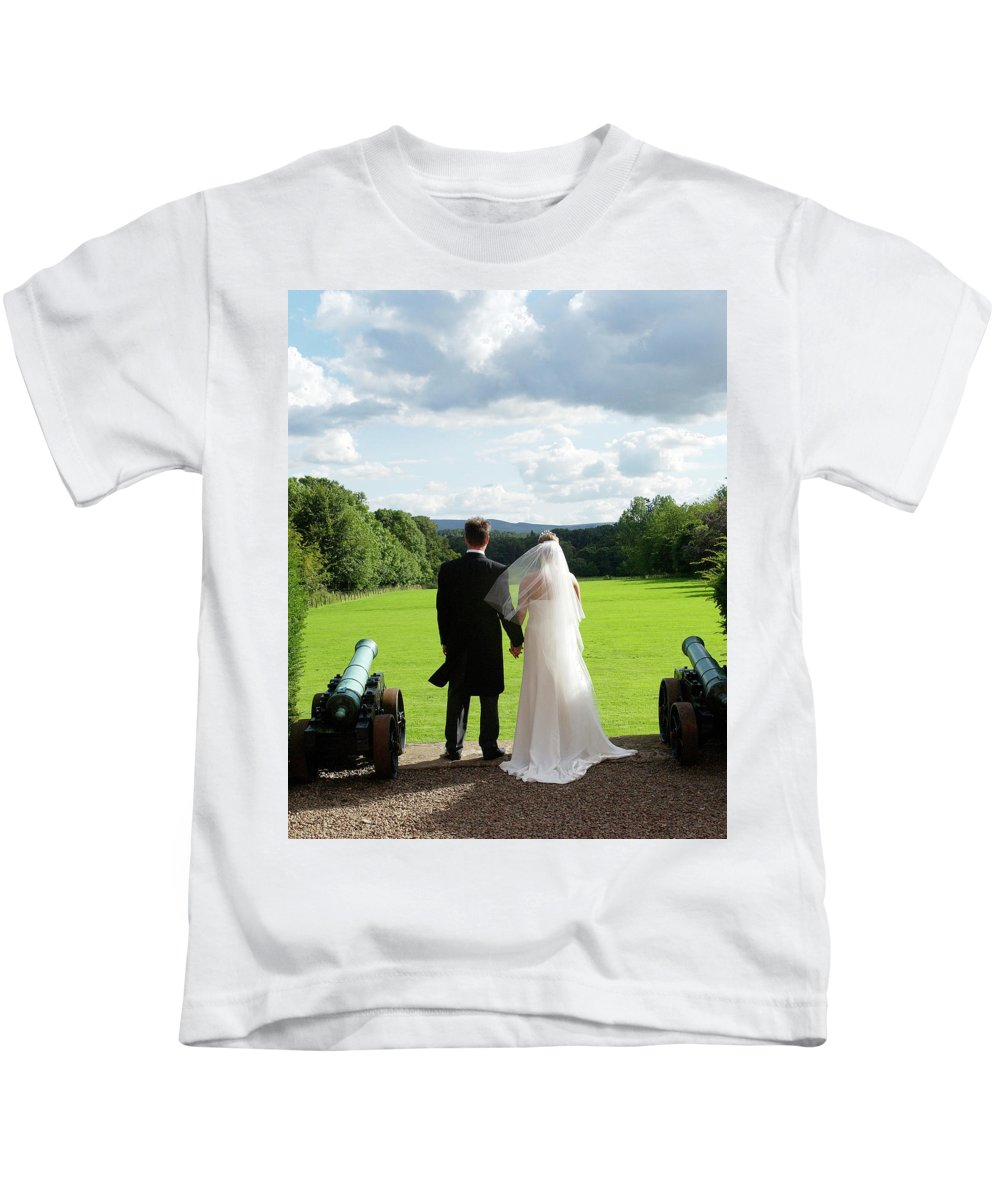 Married Kids T-Shirt featuring the photograph Just Married Looking To The Future by Victor Lord Denovan