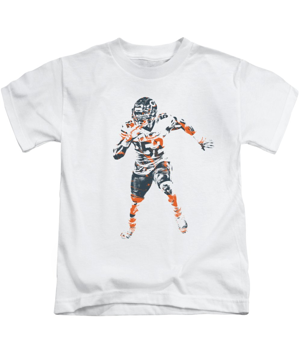 new product 01cc8 142af Khalil Mack Chicago Bears Apparel T Shirt Pixel Art 1 Kids T-Shirt