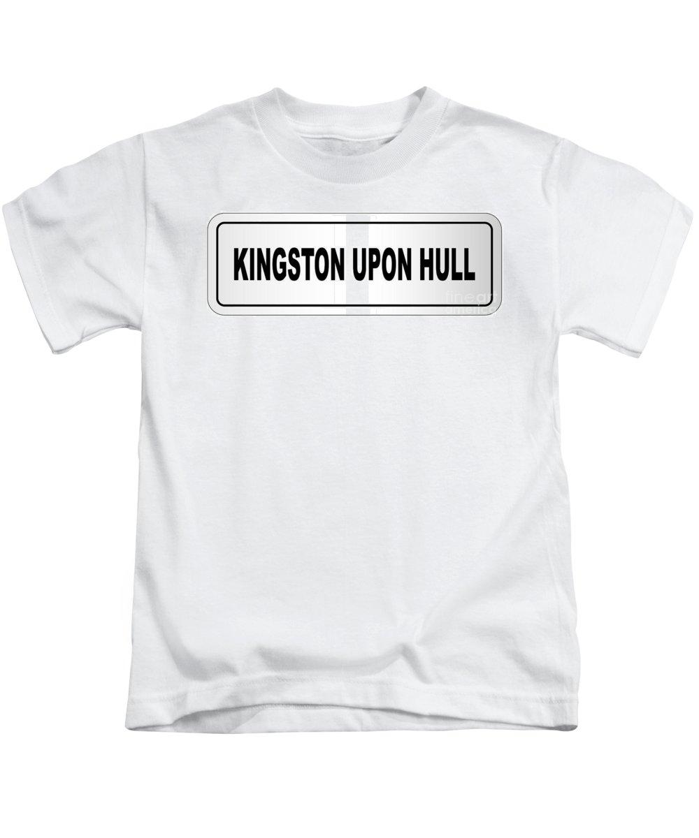 Kingston Upon Hull Kids T-Shirt featuring the digital art Kingston Upon Hull City Nameplate by Bigalbaloo Stock
