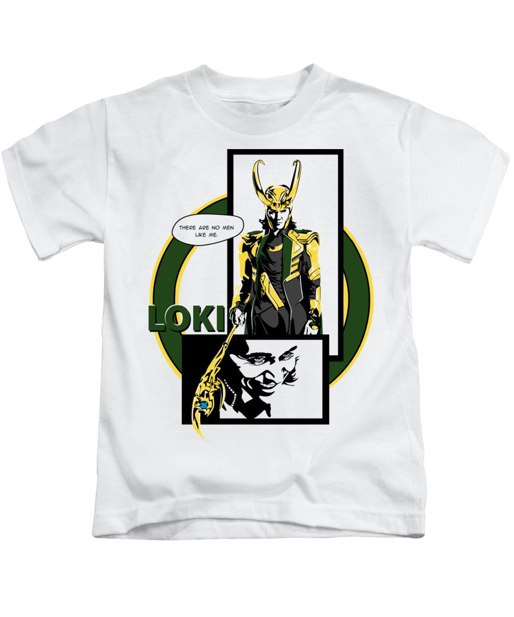 Loki Kids T-Shirt featuring the digital art Loki by Geek N Rock