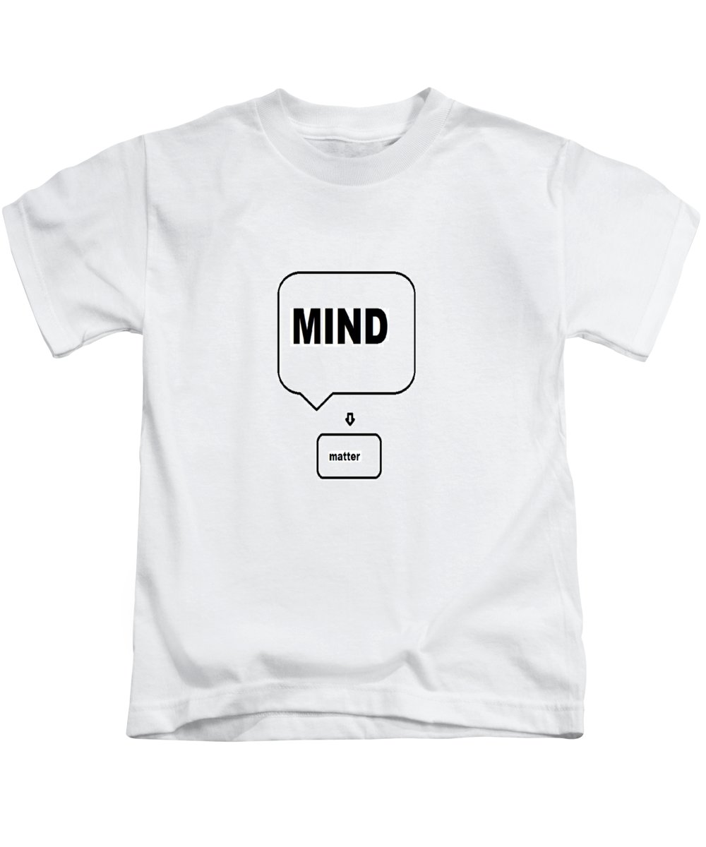 Print Kids T-Shirt featuring the digital art Mind over matter by Andrew Johnson