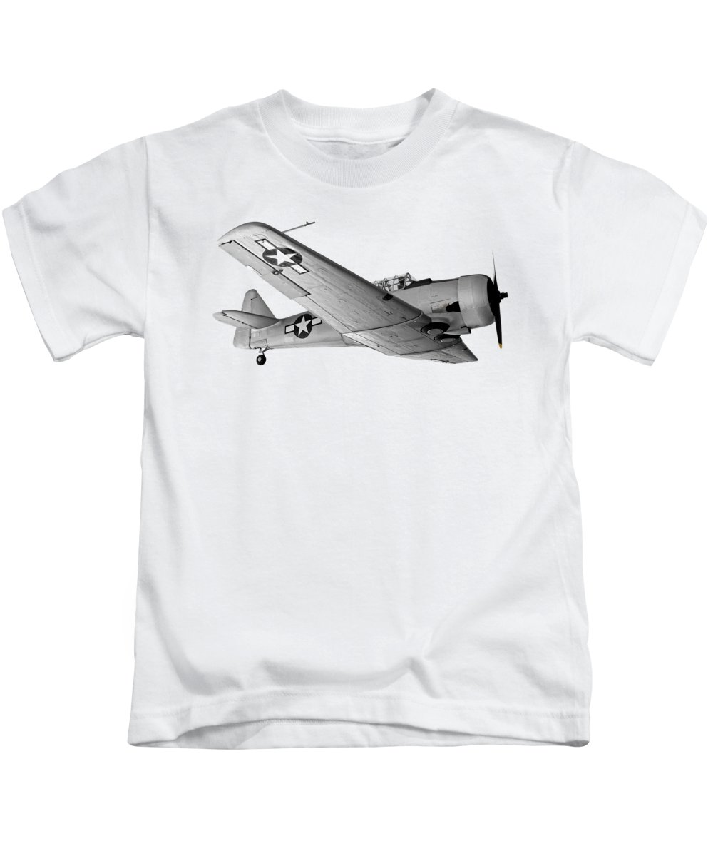 Military Trainer Aircraft Kids T-Shirts