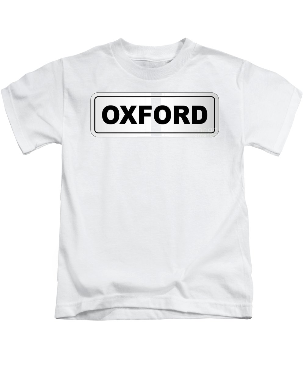 Oxford Kids T-Shirt featuring the digital art Oxford City Nameplate by Bigalbaloo Stock