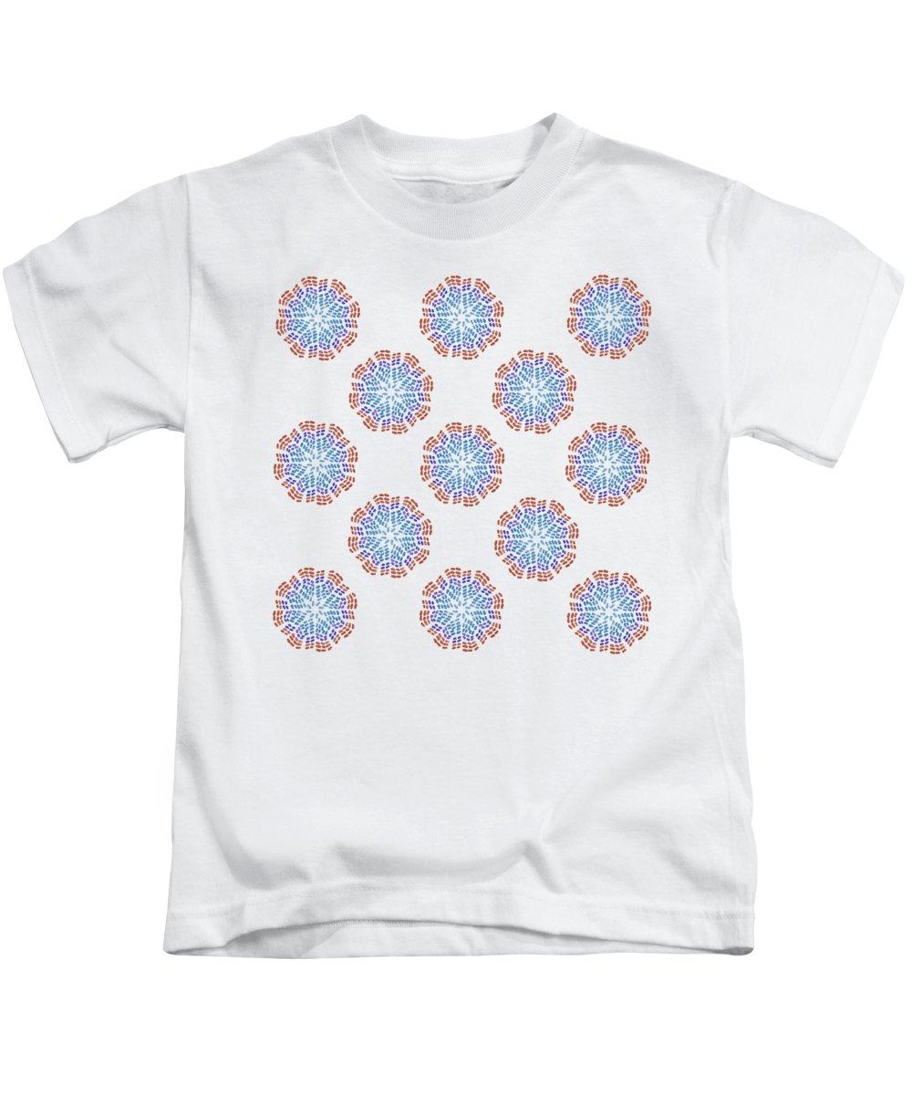Starburst Pattern Kids T-Shirt featuring the digital art Starburst Pattern by Priscilla Wolfe