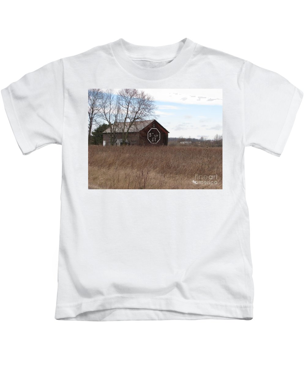 Stop It Kids T-Shirt featuring the photograph Stop It by Michael Krek