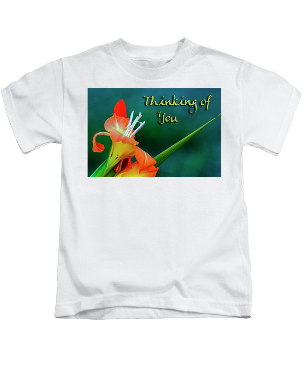 Card Kids T-Shirt featuring the photograph Thinking Of You by Annette Persinger