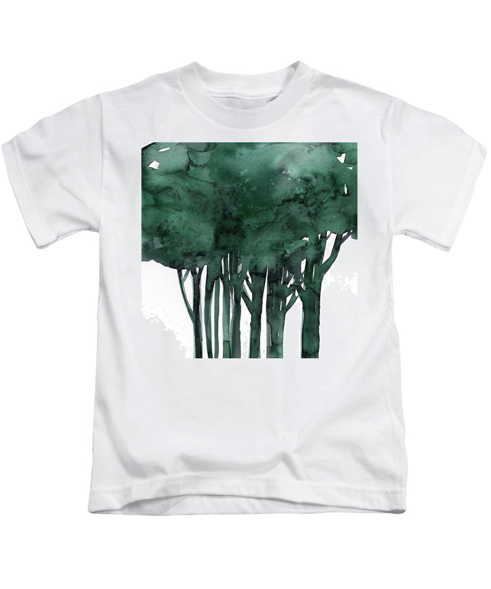 Tree Kids T-Shirt featuring the painting Tree Impressions 1d by Kathy Morton Stanion