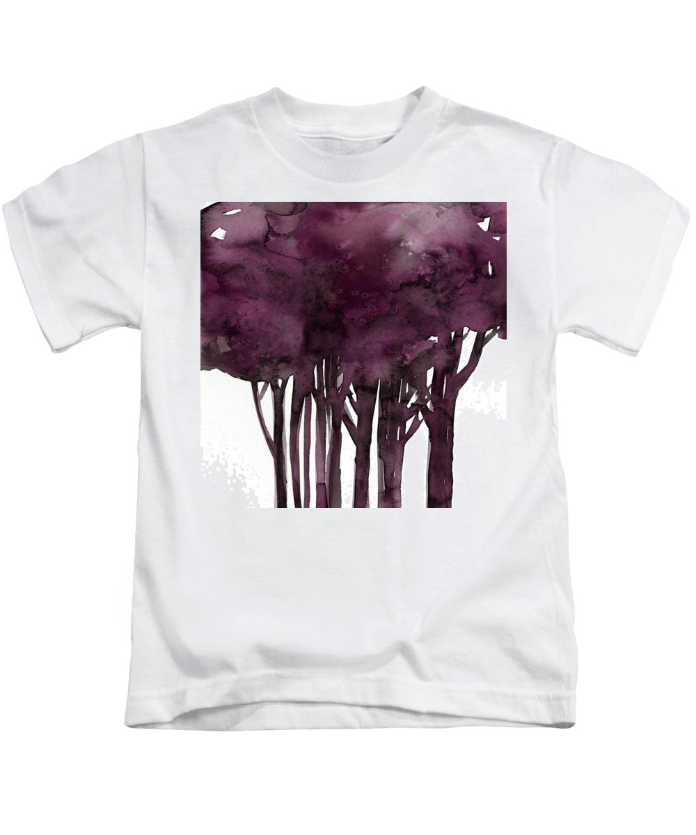 Tree Kids T-Shirt featuring the painting Tree Impressions 1j by Kathy Morton Stanion