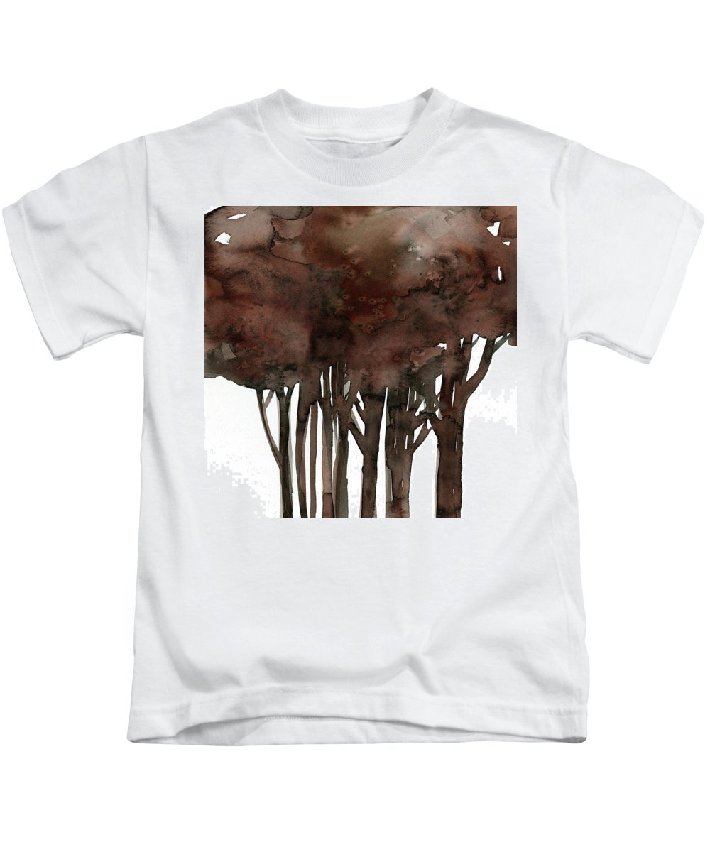 Ree Kids T-Shirt featuring the painting Tree Impressions No. 1 by Kathy Morton Stanion