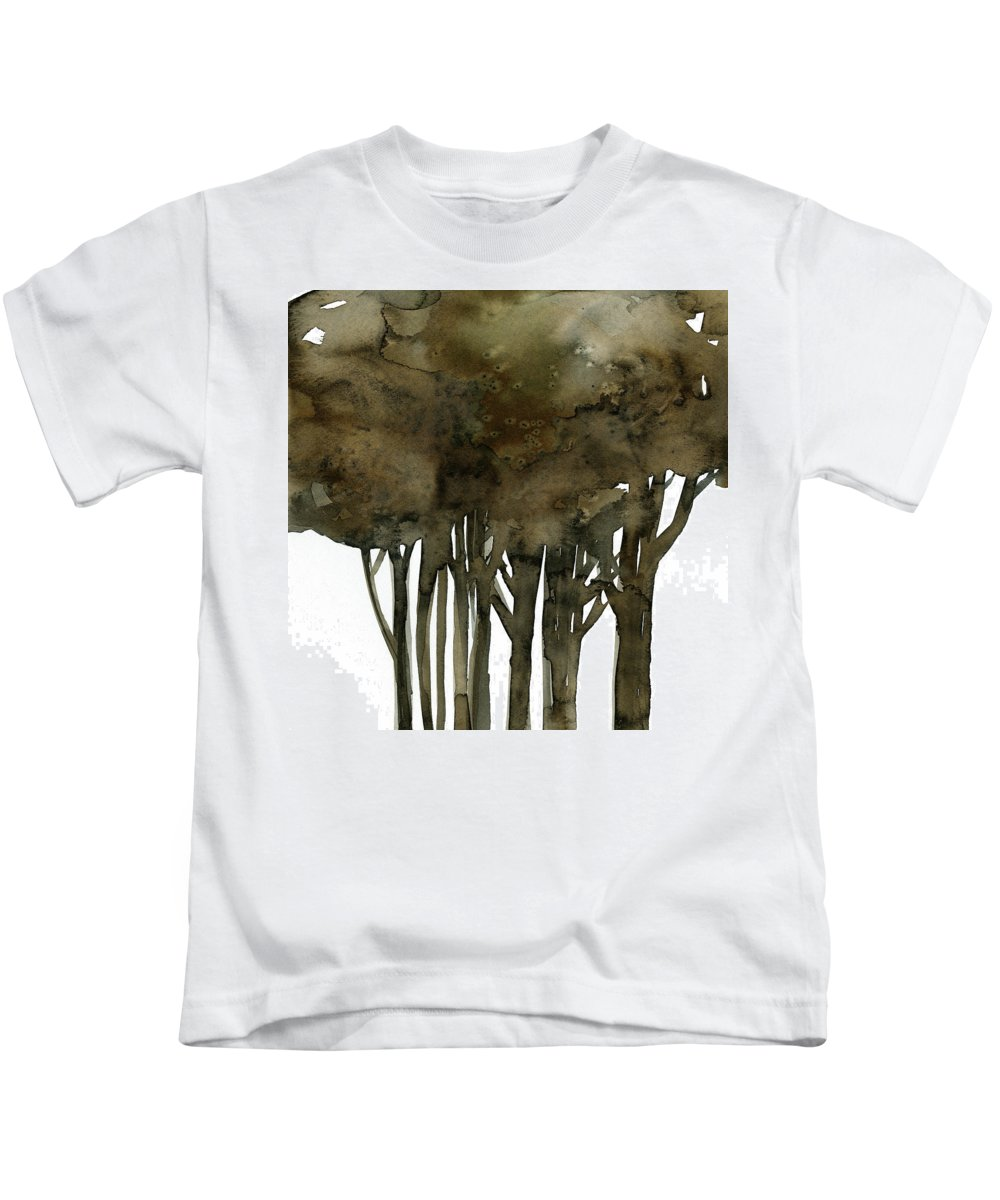 Tree Kids T-Shirt featuring the painting Tree Impressions No. 1a by Kathy Morton Stanion