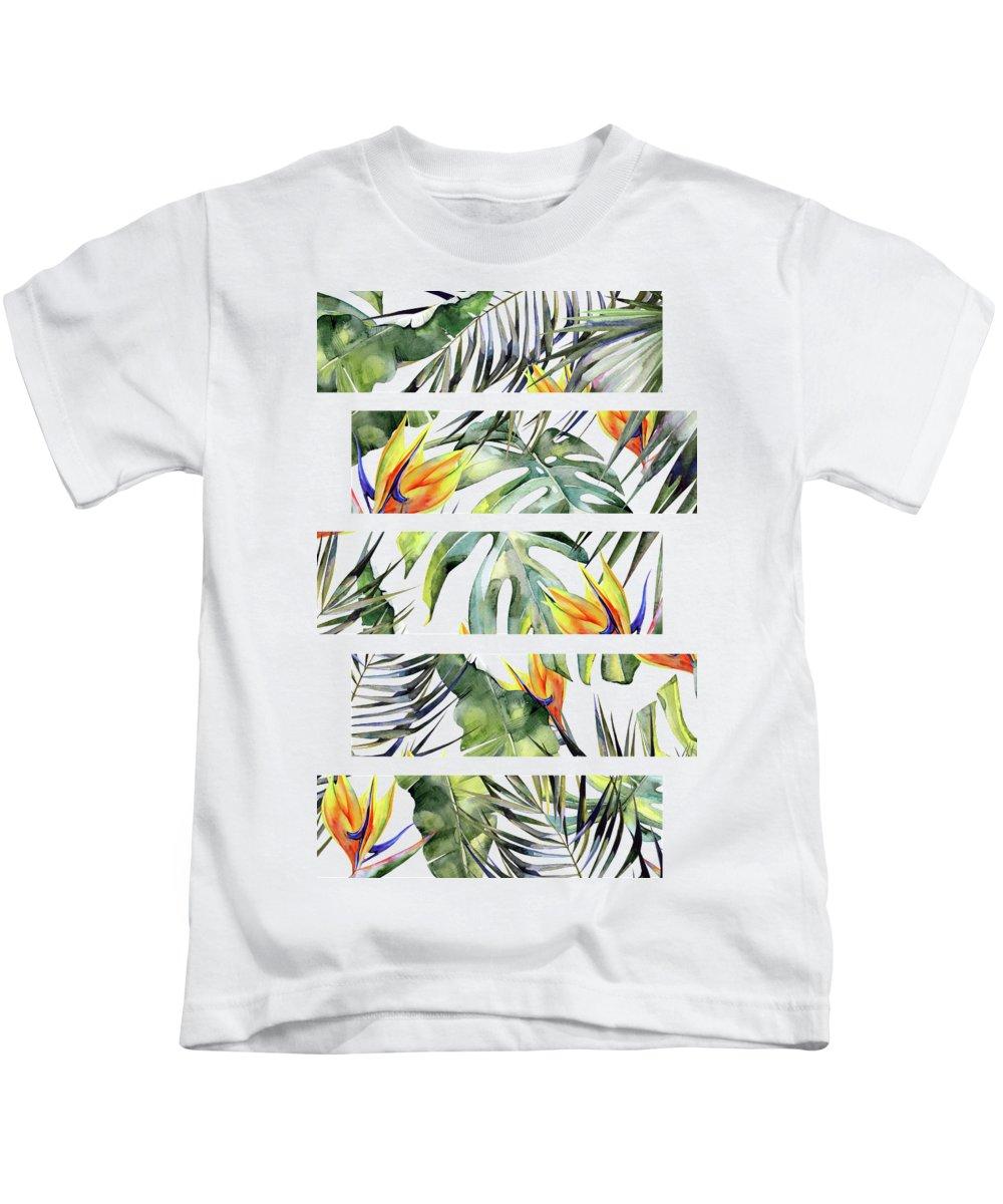 Tropical Kids T-Shirt featuring the photograph Tropical Garden by Magic Dreams