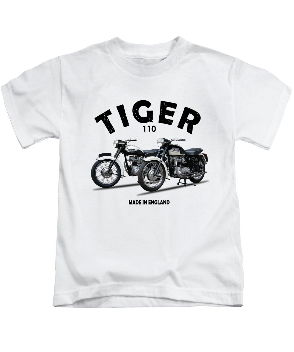 Triumph Tiger Kids T-Shirt featuring the photograph Two Triumph Tigers by Mark Rogan