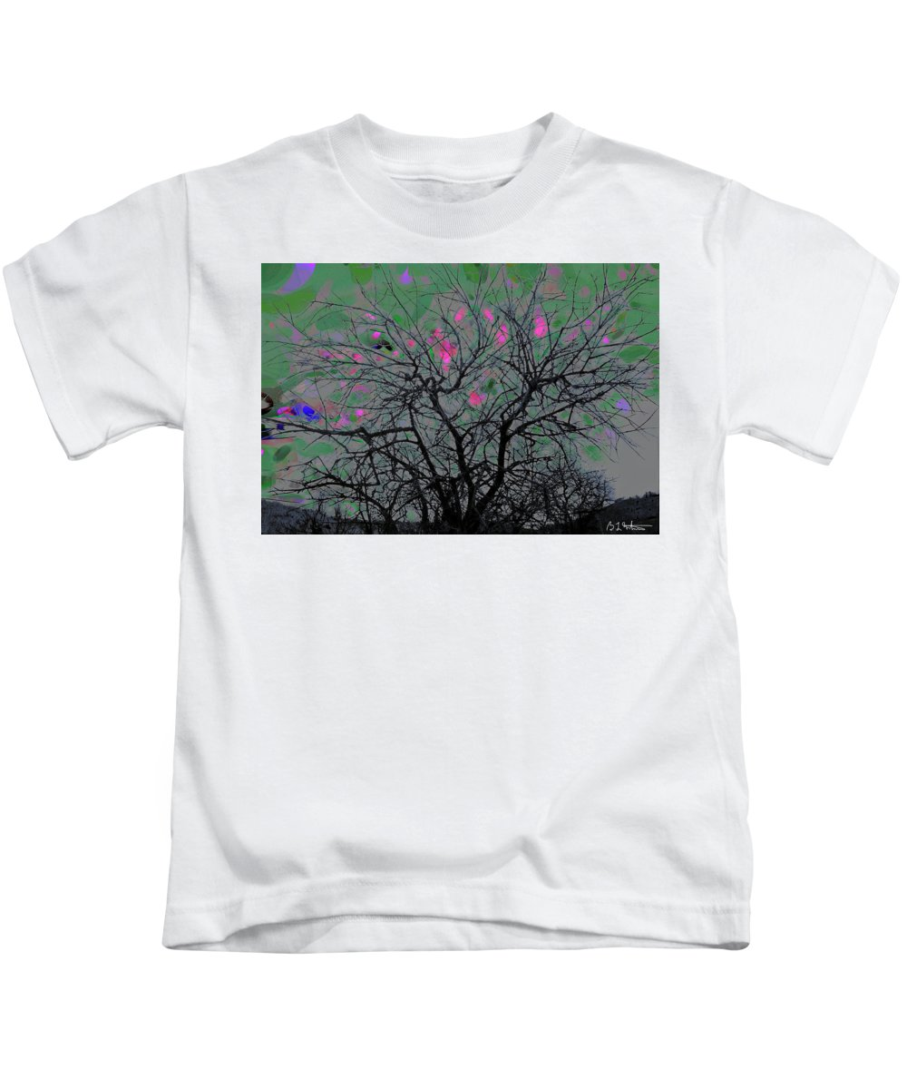 Tree Kids T-Shirt featuring the digital art Wasteway Willow 17 by Bruce Whitaker