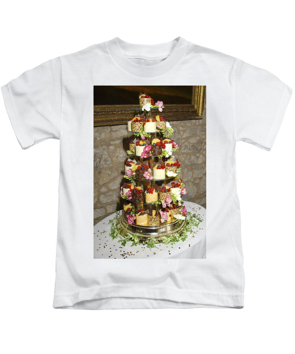 Wedding Kids T-Shirt featuring the photograph Wedding Cake by Victor Lord Denovan