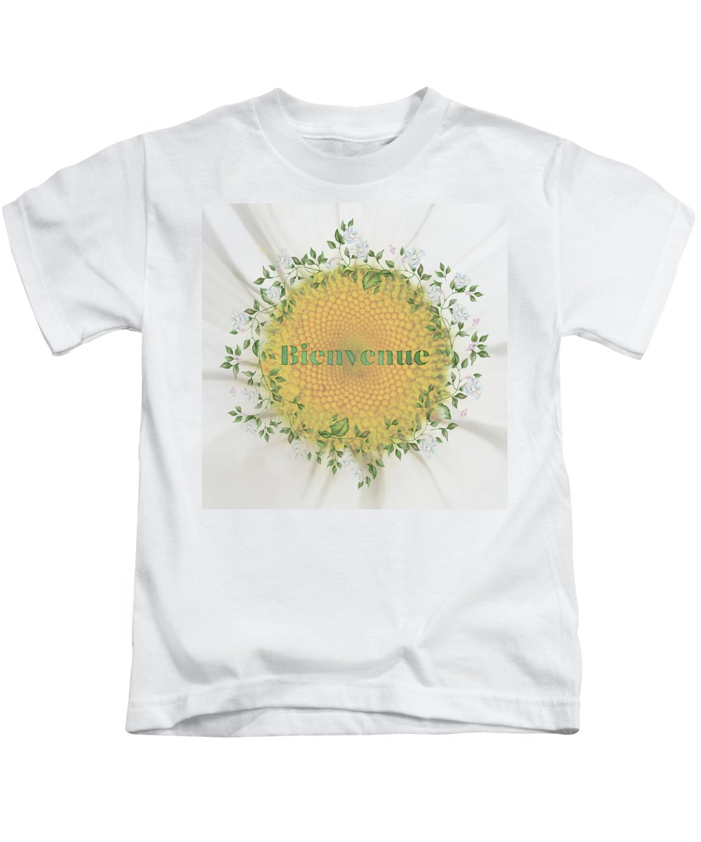 Photography Kids T-Shirt featuring the digital art Welcome - Bienvenue by Terry Davis