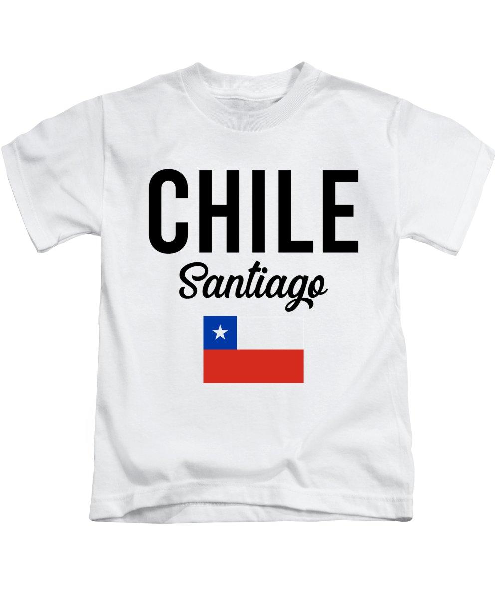 Santiago Kids T-Shirt featuring the digital art Chile Santiago Travel Souvenir Gift Idea by J M