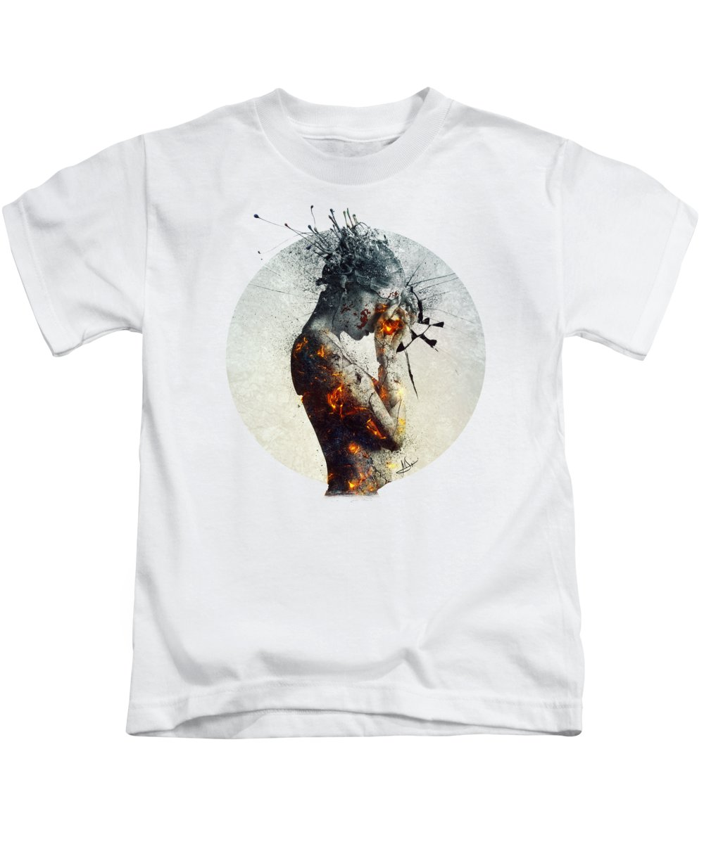 Deliberation Kids T-Shirt featuring the digital art Deliberation by Mario Sanchez Nevado