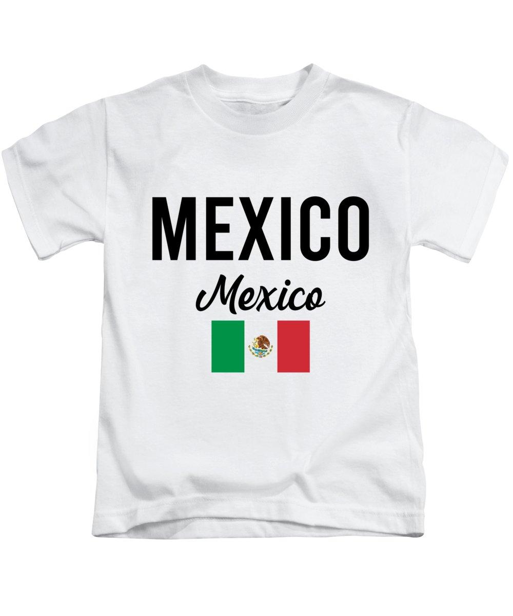 Mexico Kids T-Shirt featuring the digital art Mexico Travel Souvenir Gift Idea by J M