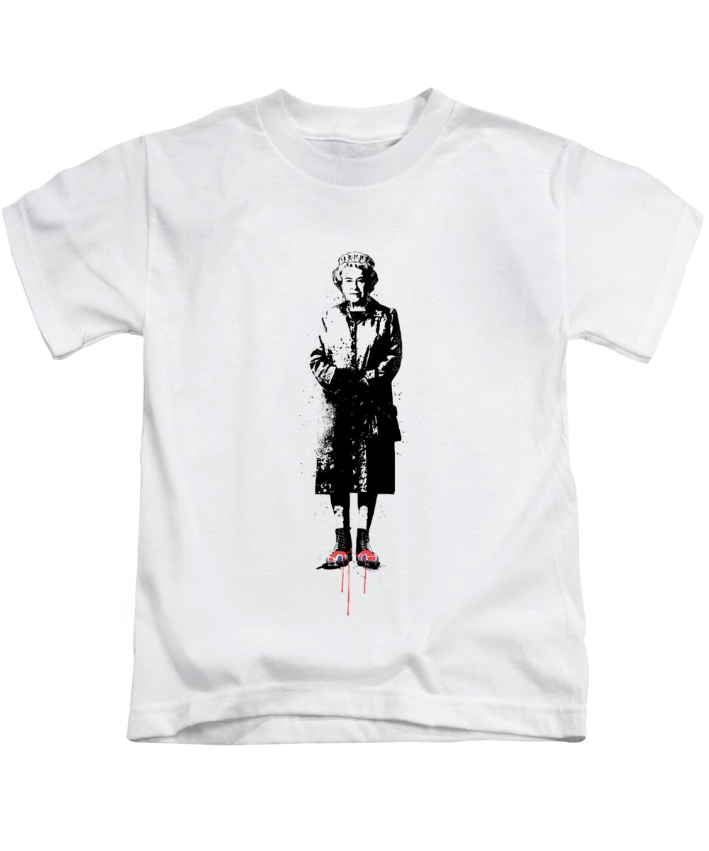 England Kids T-Shirt featuring the mixed media This is England by Balazs Solti