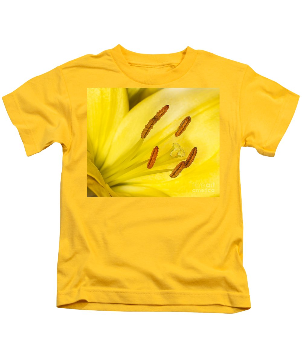 Close-up Kids T-Shirt featuring the photograph Yellow Flower by Shaun Wilkinson