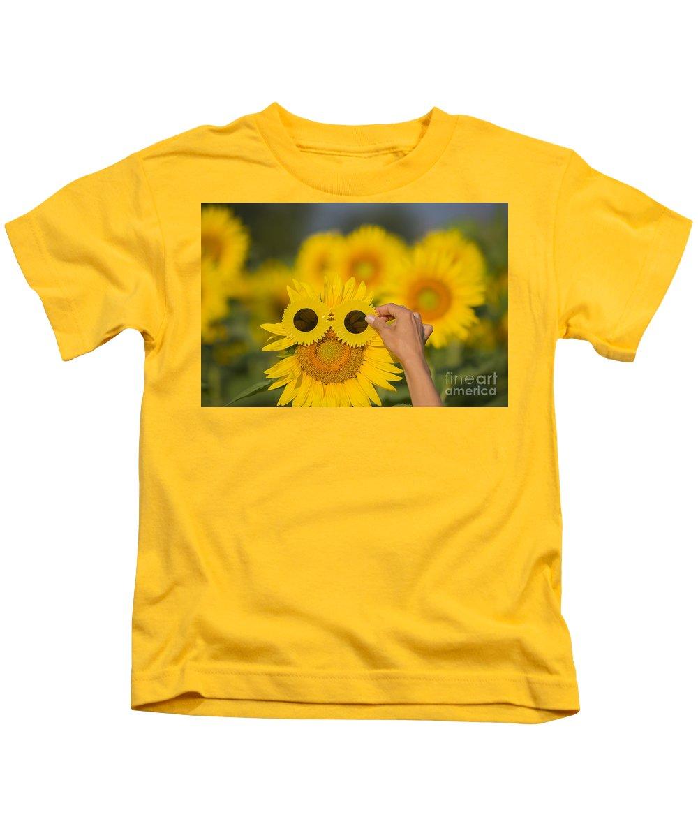 Sunflower Kids T-Shirt featuring the photograph Sunflower by Mats Silvan