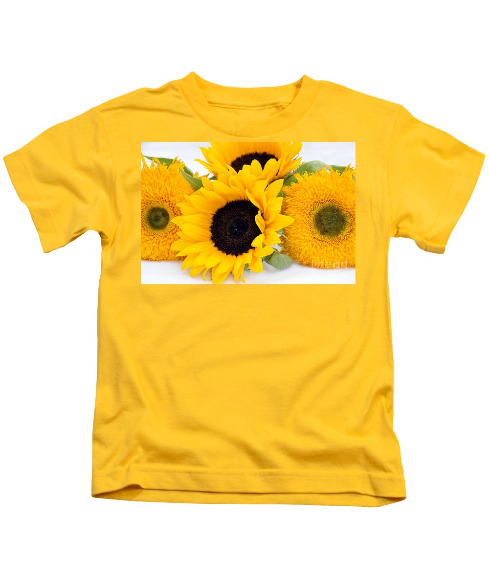 Sunflowers Kids T-Shirt featuring the photograph A Bunch Of Sunshine by Sheila Laurens