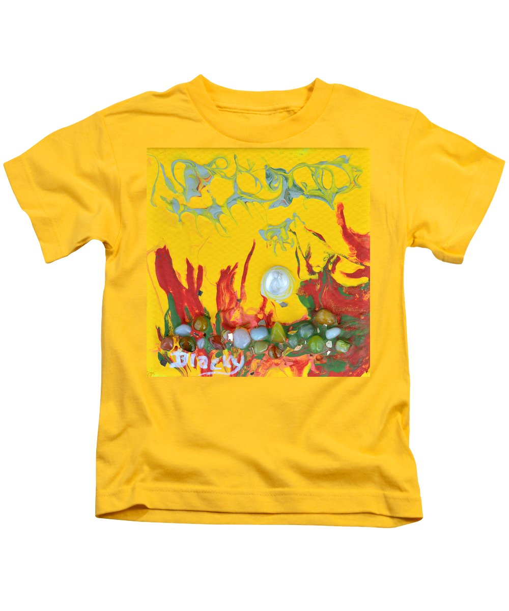 Modern Kids T-Shirt featuring the mixed media Almost Sundown by Donna Blackhall