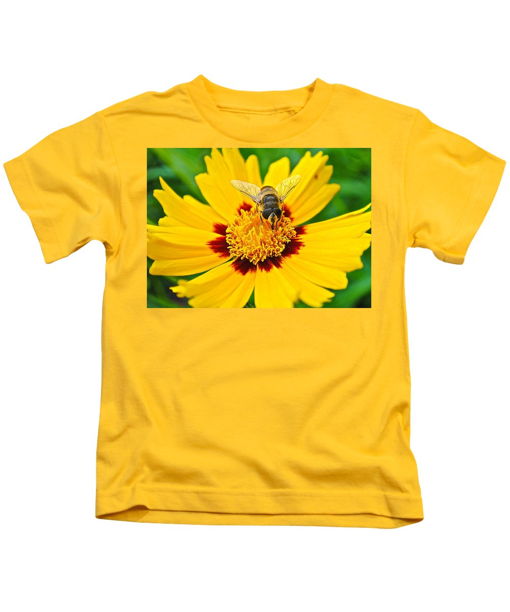 Bee Kids T-Shirt featuring the photograph Beeautiful by Frozen in Time Fine Art Photography