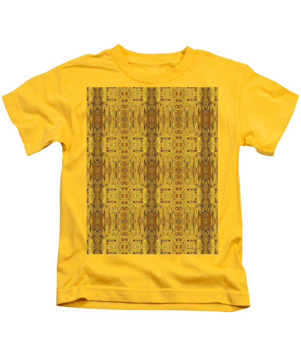 Doors Of Zanzibar Kids T-Shirt featuring the digital art Doors Zanzibar Saffron by Judi Suni Hall