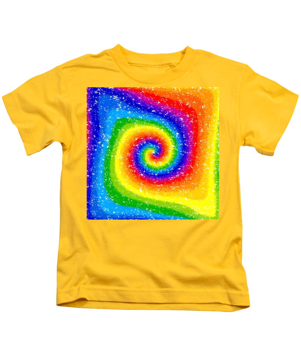 Rainbow Kids T-Shirt featuring the digital art I Can See A Rainbow by Chris Butler