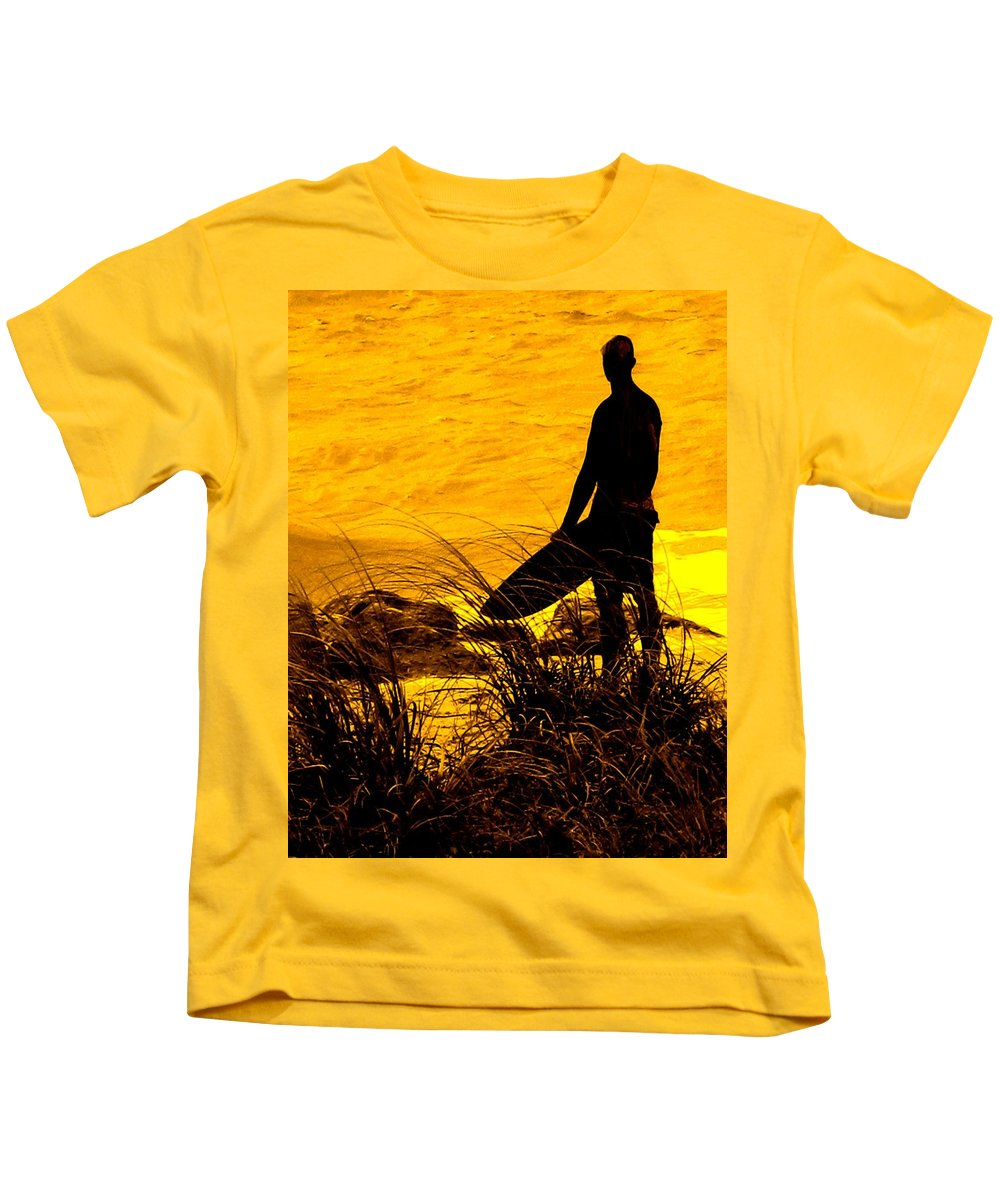 Florida Kids T-Shirt featuring the photograph Last Surfer Standing by Ian MacDonald