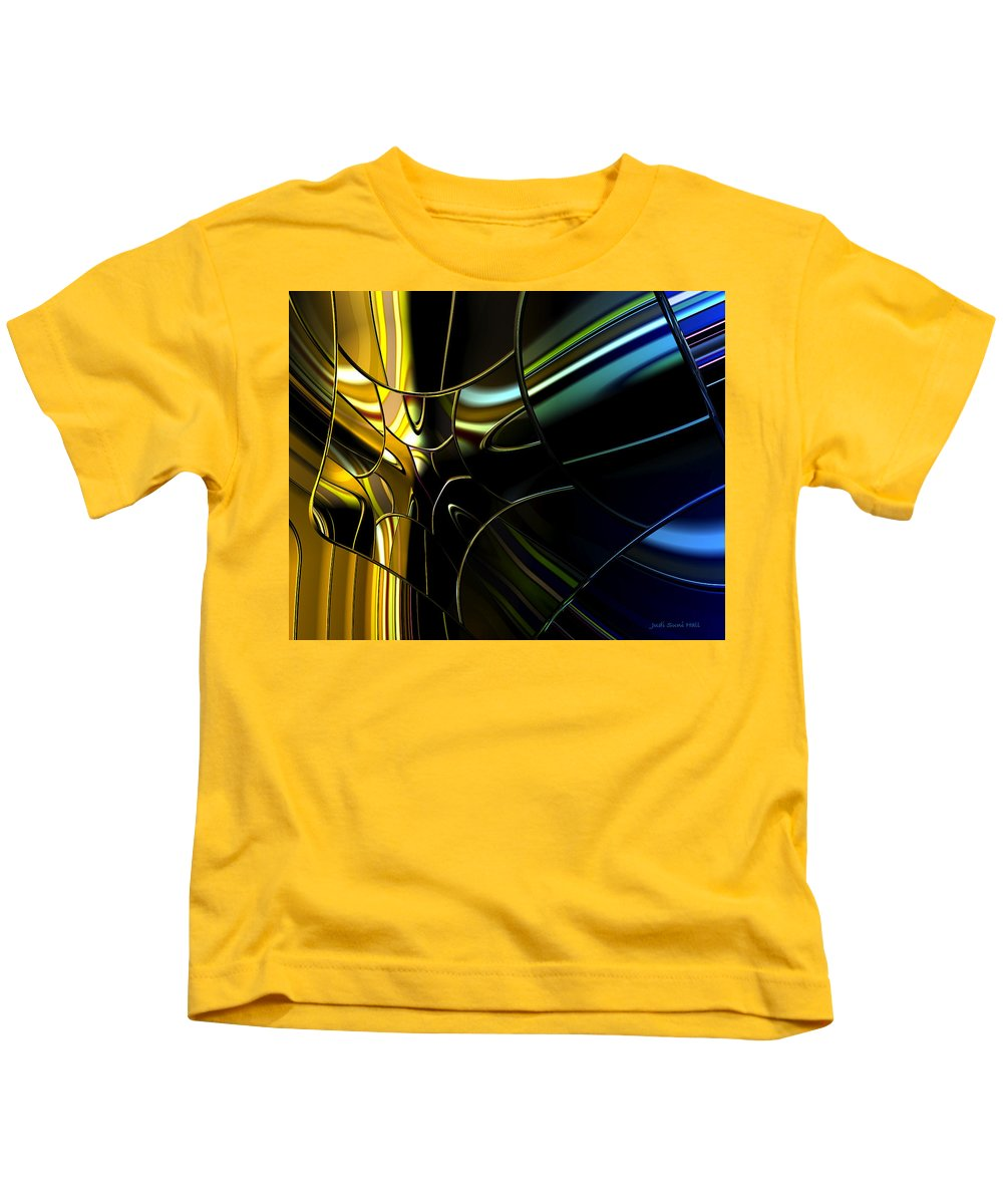 Abstract Kids T-Shirt featuring the digital art Outside The Window by Judi Suni Hall