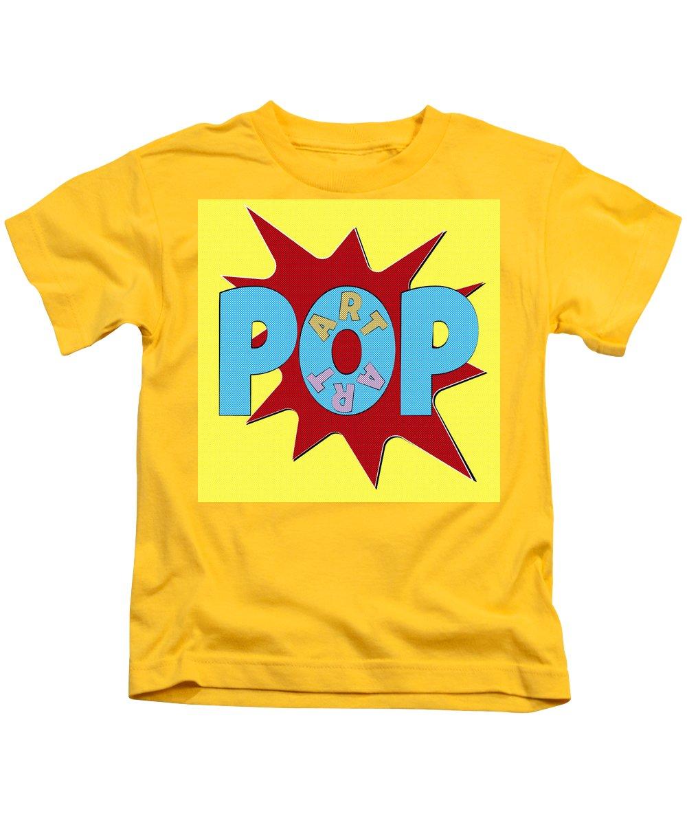 Pop Kids T-Shirt featuring the painting Pop Art Words Splat 02 by Jo Roderick