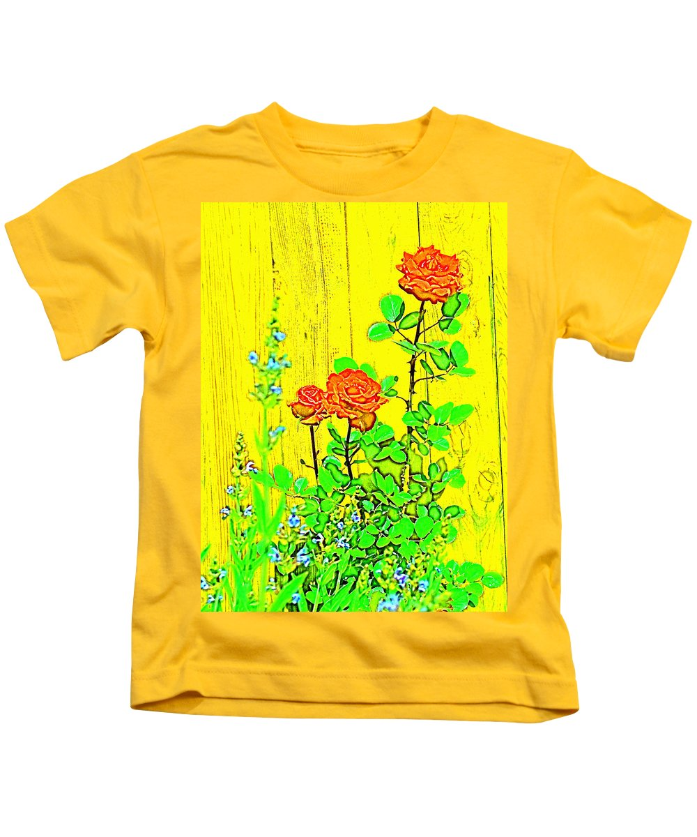 Floral Kids T-Shirt featuring the photograph Rose 9 by Pamela Cooper