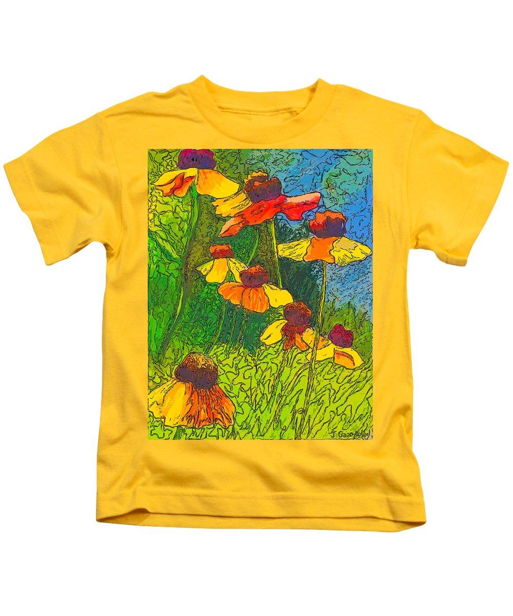 Sketch Kids T-Shirt featuring the drawing Summer Sketch by Jo-Anne Gazo-McKim