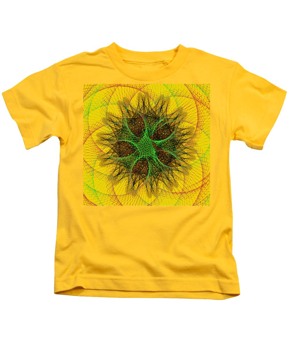 The Sun Kids T-Shirt featuring the drawing The Sun by Bill Cannon