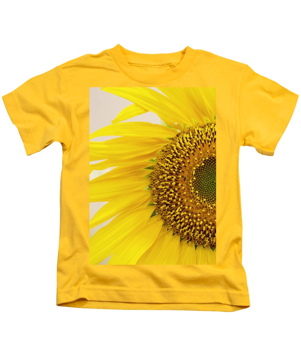 Sunflower Kids T-Shirt featuring the photograph Turned On The Brights by Heather Applegate