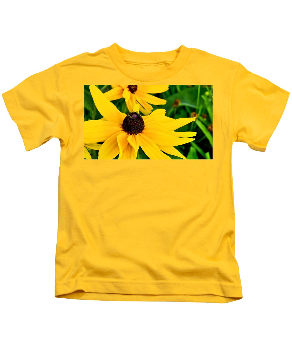 Flowers Kids T-Shirt featuring the photograph Yellow Flowers by Patrick Moore