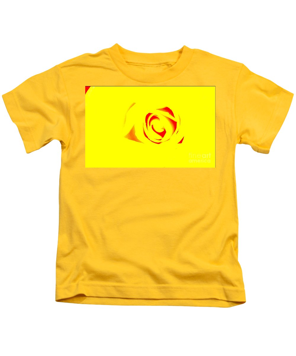 Rose Art Kids T-Shirt featuring the photograph Curves by Kim Henderson